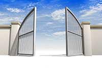 Въездные автоматические ворота. Алютех. Дорхан.