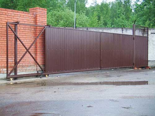 Въездные ворота 4х2 фото калитки иворота в ейске