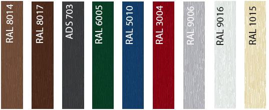 Стандартные цвета секционных ворот